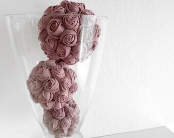 Glass bowl fillers, decorative balls, white, Set of 3 pieces, orbs, spheres, Wedding decor, Centerpiece