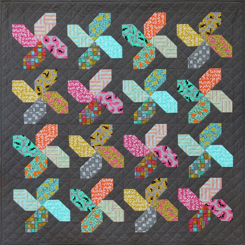 Whirligig Quilt PDF Pattern by Emma Jean Jansen  Immediate image 0