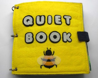 Quiet Book - Felt Busy Book Toddler Activity Book Ages 0 - 6 years