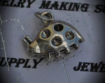 Lady Bug Sterling Silver Plated Charm