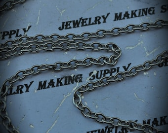 Stainless Steel Cable Chain Necklace 19in