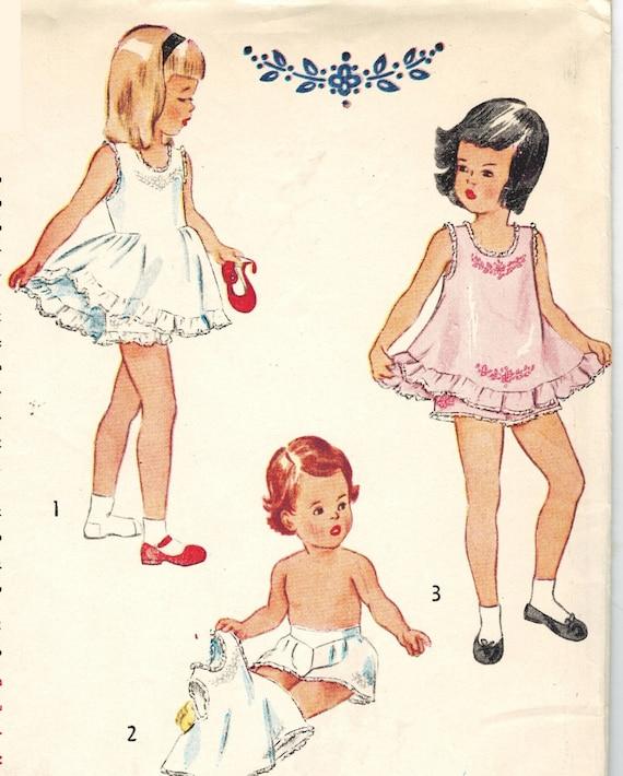 Simplicidad 2558 Vintage años 40 Super Slip de niño lindo