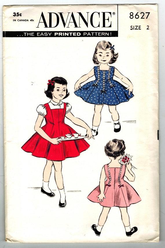Avanzar 8627 sin cortar y FF Vintage años 50 niño niñas | Etsy