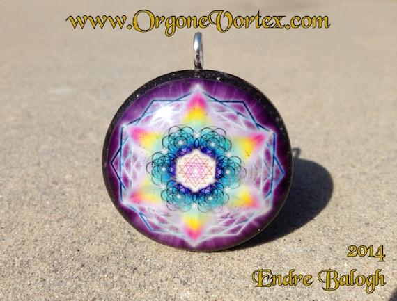 Chakra Balancing Artist Endre Balogh FREE Necklace Sacred Geometry Orgone Tesla Pendant- Feat EMF Blocker Hand Made