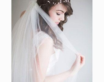 Bridal Flower Crown, 1920s wedding, Boho Bridal Crown - Rosalie