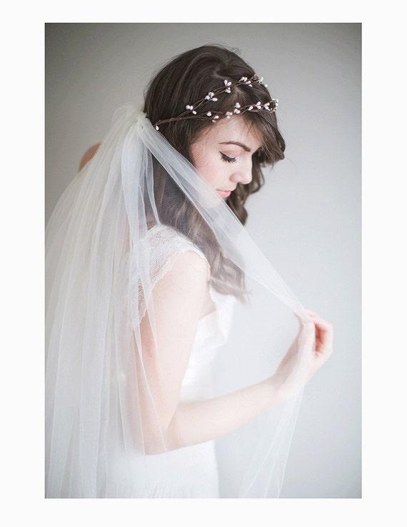 Bridal Flower Crown 1920s Wedding Boho Bridal Crown Rosalie
