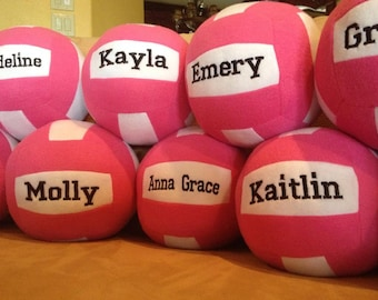 Plush Volleyball Custom Embroidered