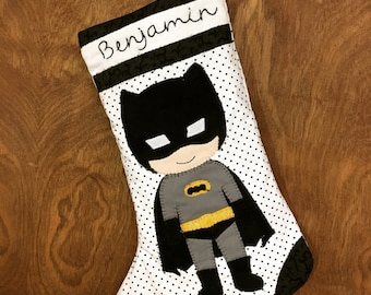 Personalized Superhero Inspired stocking
