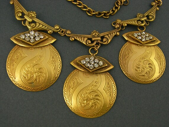 Joseff of Hollywood Vintage Art Deco Necklace and… - image 2