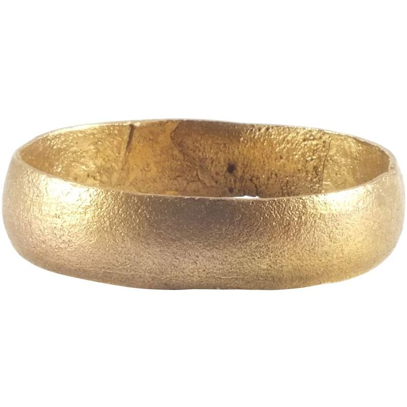 Size 9 12  Ancient Viking Wedding Ring Band  C.850-1050 AD