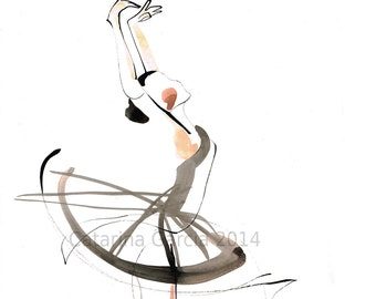 Ballerina Dance Drawing Series Ballet Print on Photo paper poster & more