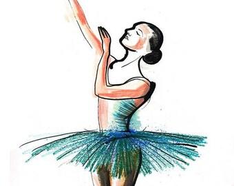 Ballerina Ballet Dance Drawing