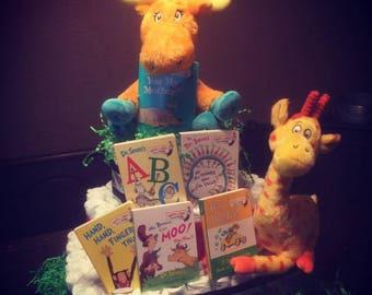Dr. Seuss Storybook Square Diaper Cake