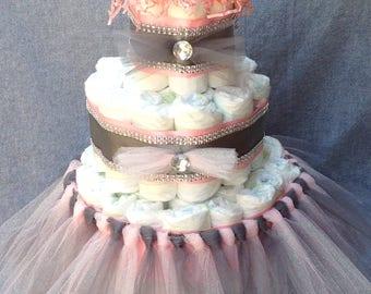 Baby Girl Princess Diaper Cakes