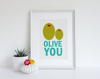 Nursery Art Print - Olive You