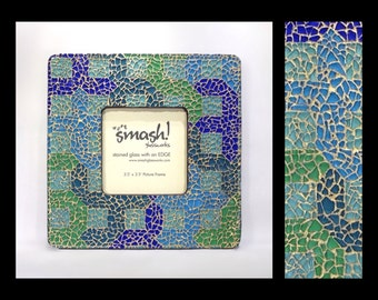 Caprice - 3.5x3.5 Glass Mosaic Picture Frame