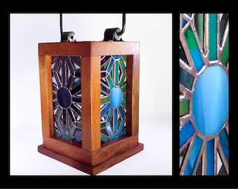Radiance -Stained Glass Lantern