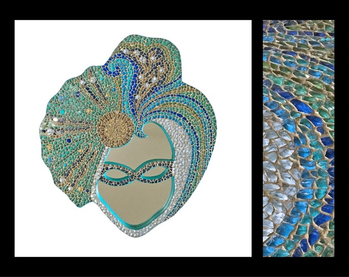 Featured listing image: Masquerade - Glass Mosaic Mirror