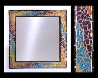 "Peregrine - Mosaic Mirror (12""x12"")"