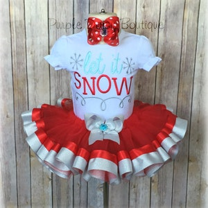 Candy Cane Cutie Red and White Ribbon Trim Tutu OutfitHoliday Tutu Outfit Holiday Outfit For GirlsCandy Cane Cutie OutfitCandy Cane Tutu