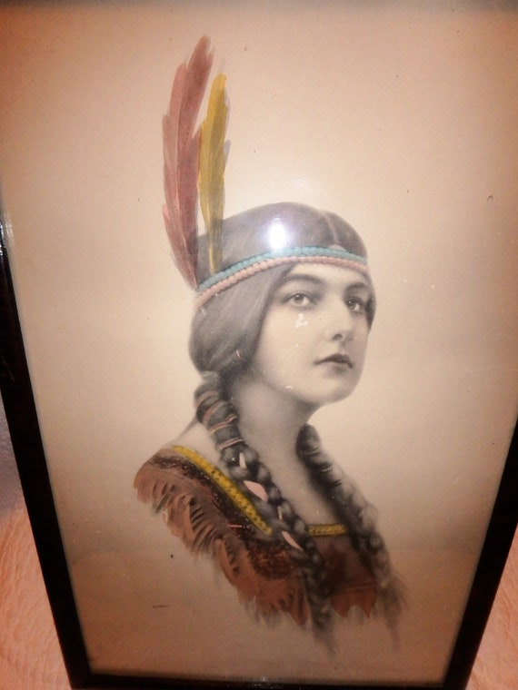 COLORIZED ON BOTH SIDES COLORIZED 2000 NATIVE AMERICAN $