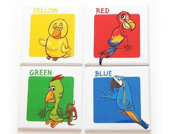 Learning Colors Magnet Set, Set of Twelve Color Magnets, Gift for Kids (10212)