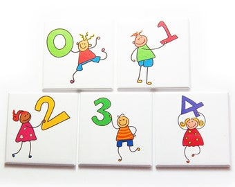 Learning To Count Magnet Set, Set of Ten Magnets, Gift for Kids (10228)