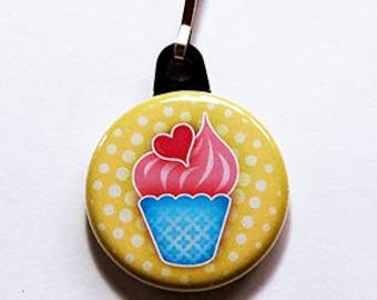 Ice Cream zipper pull, backpack zipper pull, zipper pull, purse charm, Ice Cream Sundae, gift for her, gift for kids, zipper charm (908)