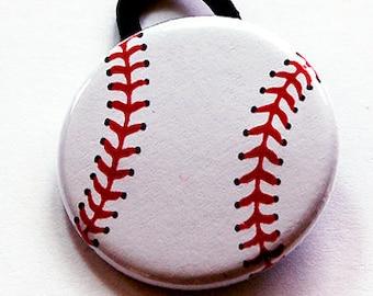 Baseball Ponytail Holder, Hair Elastic, Pony tail holder, Sports ponytail holder, stocking stuffer, softball ponytail holder (6112)