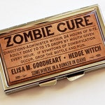 Zombie Cure, Pill case, 7 sections, Pill Container, 7 day pill box, 7 day, Pill Box, poison, Brown,Made in Canada, Fun Gift, Zombies (4748)