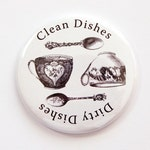 Clean Dishes, Dirty Dishes, Magnet, Dishwasher magnet, kitchen magnet, clean dishes magnet, Kitchen, KellysMagnets (3782)