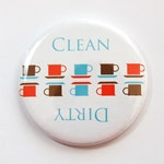 Dishwasher magnet, Clean Dishes, Dirty Dishes, kitchen magnet, clean dishes magnet, Kitchen, Kellys Magnets, Clean (3737)