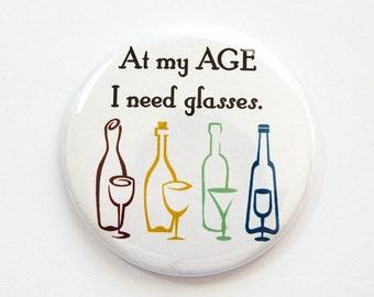 Funny pocket mirror, Pocket mirror, glass mirror, Funny mirror, mirror, purse mirror, Getting older, I Need Glasses, Sassy Sayings (3805)