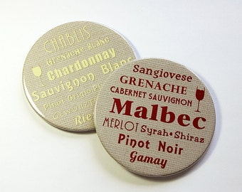 Wine Coasters, Wine Lover, Wine Tasting Party, Drink Coasters, Oenophile, Hostess Gift, Wine Accessories, Red Wine, White Wine (5054)