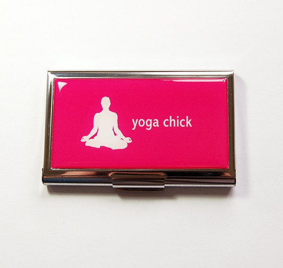 Yoga Kartentasche Visitenkartenhalter Süße Karte Fall Für Sie Visitenkarte Fall Kartentasche Yoga Yoga Chick Rosa Yoga Lehrer 5002