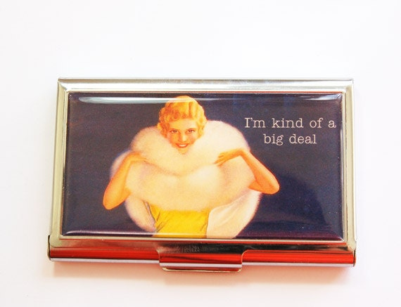 Funny Card Case Business Card Case Humor Sassy Women Card Etsy