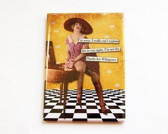 Fridge magnet, Humor, Magnet, Funny Magnet, ACEO, Retro, Kitchen magnet, stocking stuffer, dumb ass, yellow (4430)