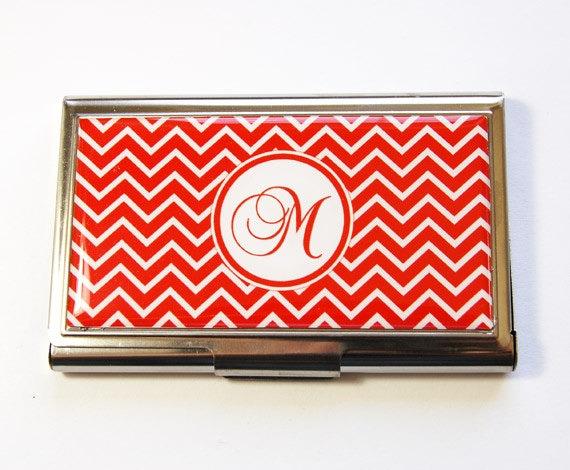 Monogramm Visitenkartenetui Visitenkarten Monogramm Fall Personalisierte Kartenetui Visitenkarten Etui Chevron Wählen Sie Farbe 2933