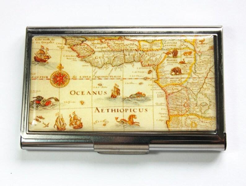Ancien Illustre Carte Sur Une Affaire De Visite