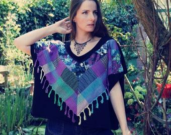 Upcycled Top, Upcycled Clothing for Women, Upcycled Sweater, Patchwork Sweater, Upcycled Clothing, Bohemian Clothing, Slow Fashion