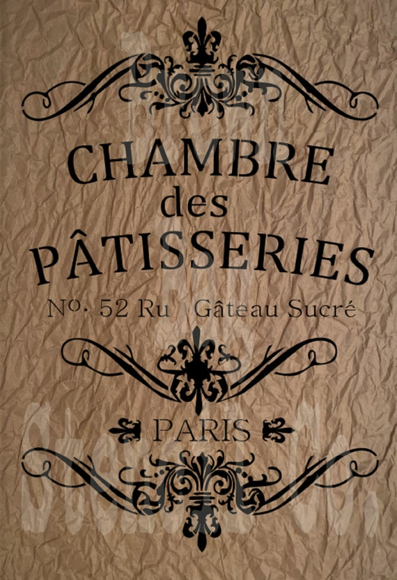 Fabric Vintage Furniture A5 Stencil Snowflakes Shabby Chic French