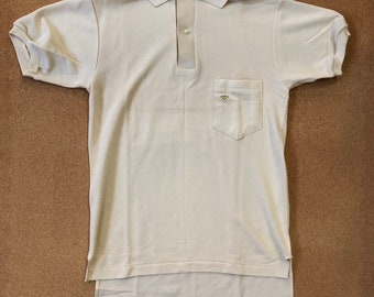 a08e083b Vintage Sears Roebuck & Co Premiere Collection Cream Polo with chest pocket  and Logo