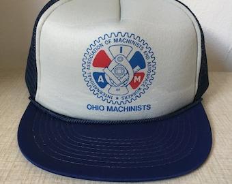 International Association of Machinists And Aerospace Workers - Ohio  Machinists Baseball Trucker Snapback Cap e2442ee25521