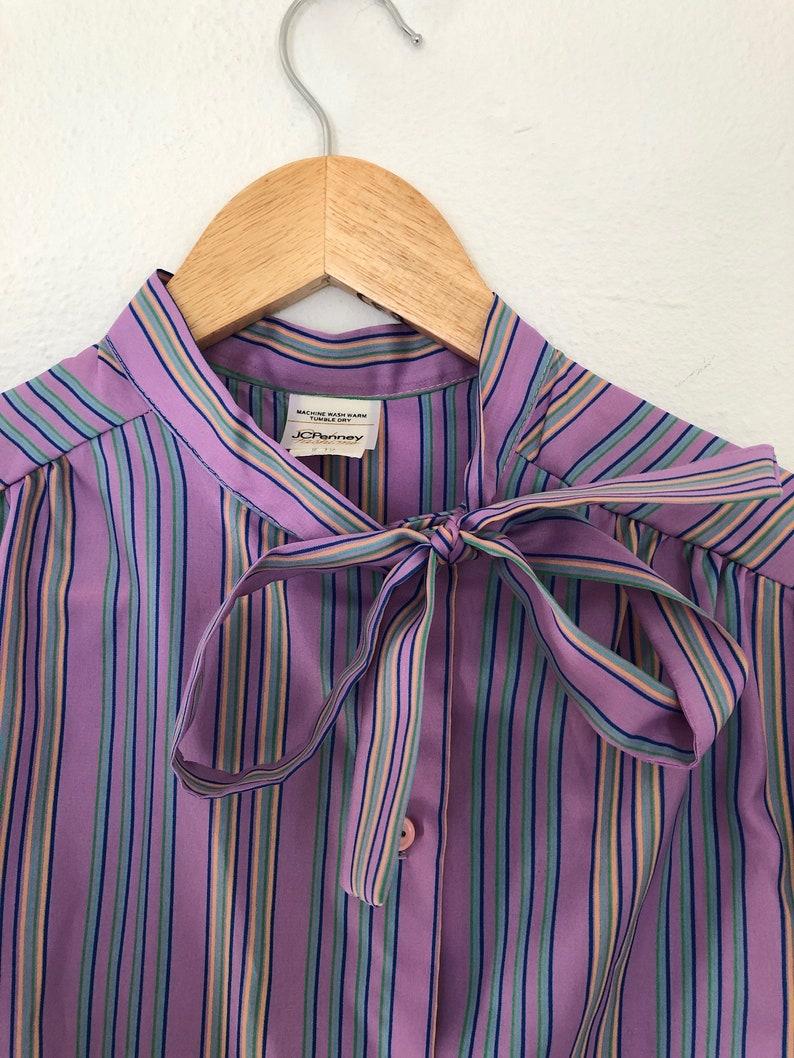 8f341b941657e4 Vintage JCPenney Fashions Purple Striped Ladies Blouse Size 12 | Etsy