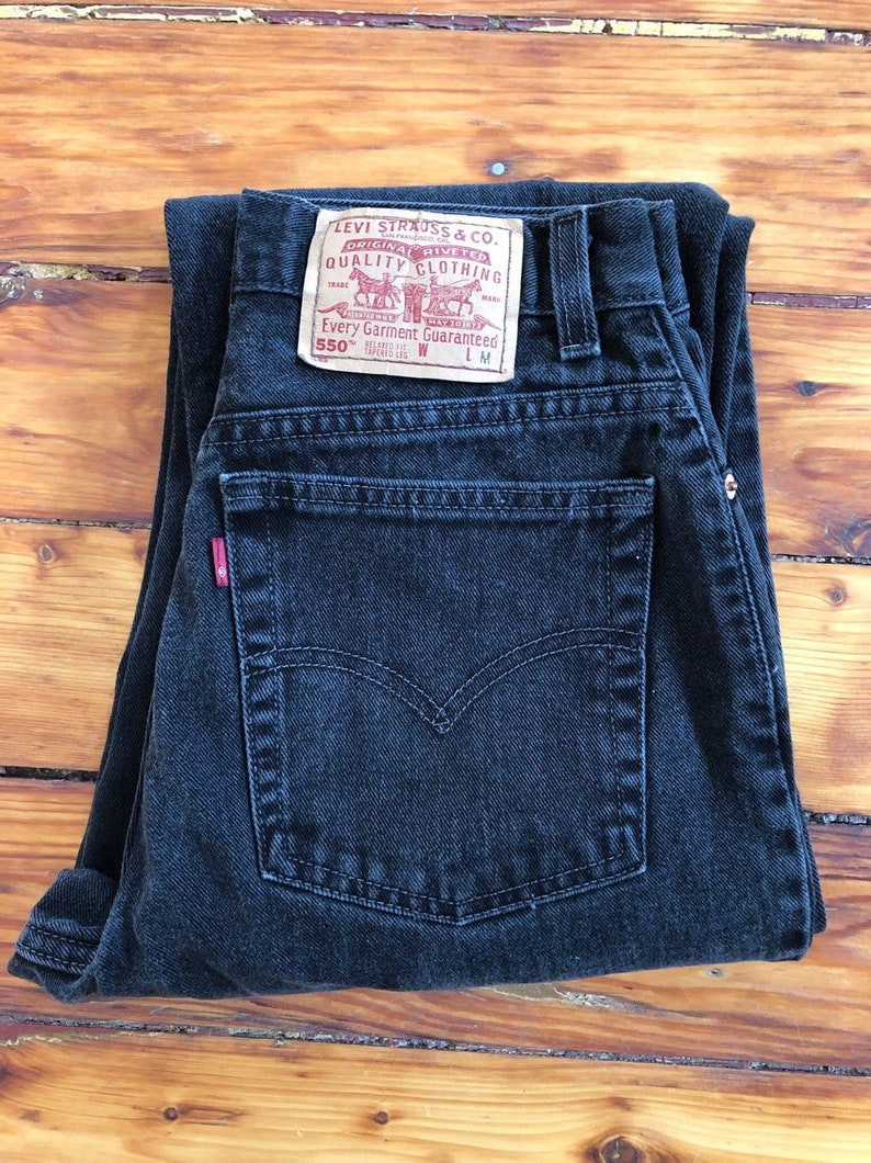 Vintage Black 550 Levi's Jeans Size 8 Misses by Etsy