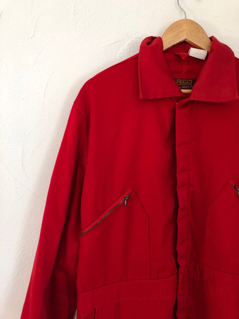 Walls Blizzard Pruf Insulated Outerware Red Coveralls