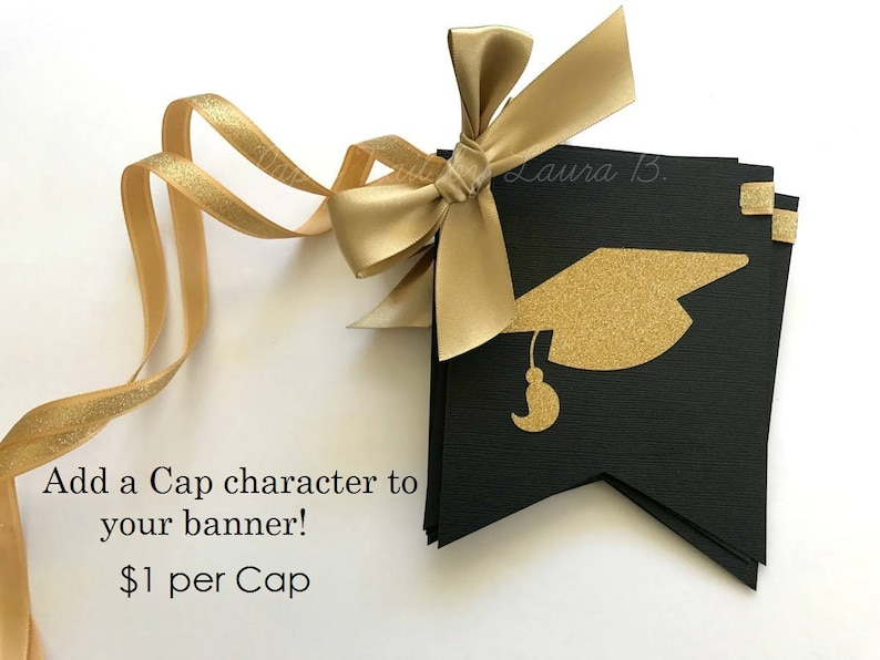 Customize your Colors Congratulations LW Graduation Custom Name Banner in Navy Blue /& Gold Glitter Class of 2019 Grad Party Decorations