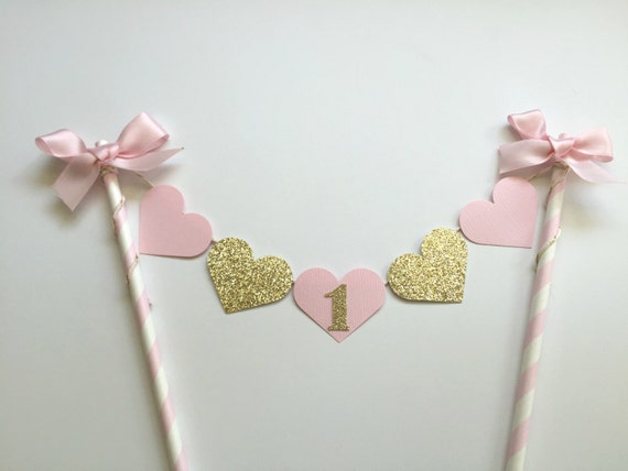 Pink And Gold Cake Bunting Banner One Shabby Chic