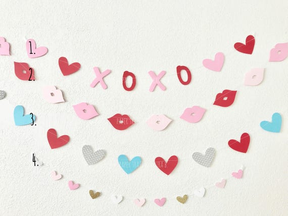 Valentine S Day Xoxo Garland Heart Garland Happy Etsy