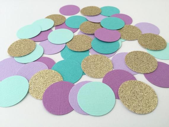 Confetti Under the Sea Colors.  Birthday Party Confetti.  Table Decor, Invitation Decor, Mermaid Party
